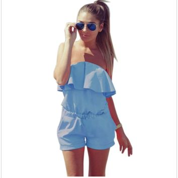 Summer romper jumpsuit for women