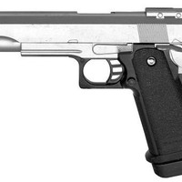 METAL Spring Powered Full Scale High Power 1:1 Silver Metal Airsoft Pistol 320-Fps Airsoft Gun Shoots EXTREMELY HARD AND ACCURATE