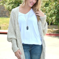 Simple Necessity Cardigan - Taupe