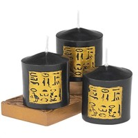 SheilaShrubs.com: Egyptian Style Candle QL0122 by Design Toscano: Candles & Lighting