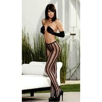 Shirley of Hollywood IS-SOH-90238 Seamless Pyramid Striped Pantyhose