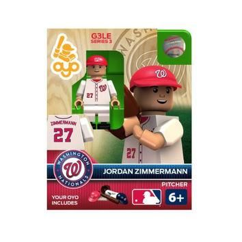 MLB Washington Nationals Jordan Zimmermann Generation 3 Toy Figure