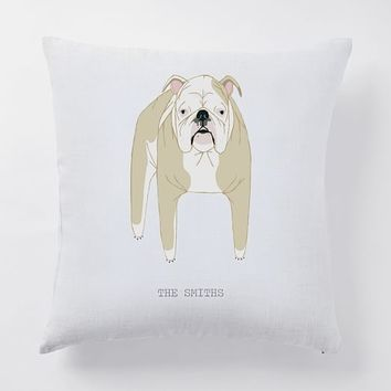 Monogrammed Dog Pillow Cover