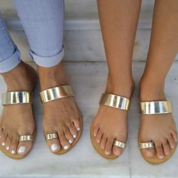 leather sandals,Mommy & Me sandals Set sandals for women and girls  handmade sandals,gold leather,womens sandals,greek sandals,womens shoes