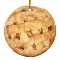 Baked Apple Pie Ceramic Ornament