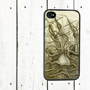 Kraken iPhone Case Sea Monster iPhone 4 Case  iPhone 5 by Arete