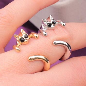 Stylish New Arrival Gift Shiny Jewelry Lovely Animal Fashion Strong Character Cats Ring [6573104391]
