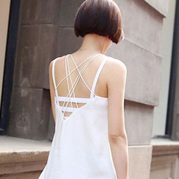 1 pc Sexy Backless Base Workout Vest Cotton Spandex Hollow Out Women Bustier Bra Crop Top Tank Beach Hot LQ994
