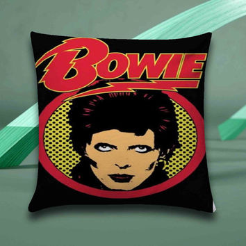 David Bowie Pillow case size 16x16, 16x24, 18x18, 20x30, 20x26