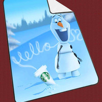 "Hello olaf Starbucks Kids Blanket Game Blanket All Character Popular Game, Cute and Awesome Blanket for your bedding, Blanket fleece ""NP"""