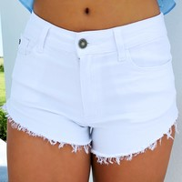 Fun In The Sun Shorts: White