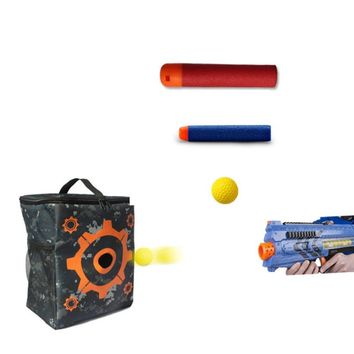 Target Pouch for Nerf N-strike Elite Series, 2 in 1 Target Storage Carry Equipment Bag for Blasters Refill Clip Darts