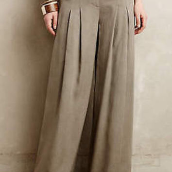 Anthropologie Pleated High-Rise Wide-Legs Pants by Elevenses Sz 16