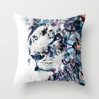 King of the Jungle Throw Pillow by NKlein Design