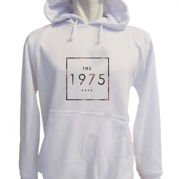 the 1975 logo Hoodie Sweatshirt Sweater white variant color for Unisex size