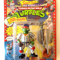 Grand Slammin Raph .. Ninja Turtles Grand Slammin Raph Sealed Action Figure Collectible TMNT Action Figure Toy Teenage Mutant Ninja Turtles