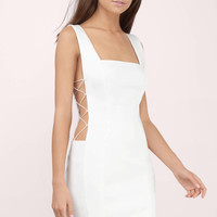 Exposition Lace Up Bodycon