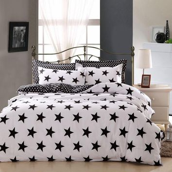 Star Print Duvet Cover Bedding Set