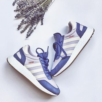 Adidas Iniki Runner Boost Purple/Beige Fashion Trending Running Sports Shoes Sneakers