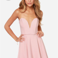 LULUS Exclusive All Good Things Strapless Blush Pink Dress