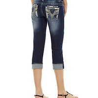 Vigoss Dublin Capri Jeans - Dark Blue Wash