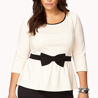 Peplum Bow Top