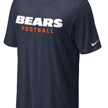 Nike Chicago Bears Sideline Legend Authentic Font Dri-FIT T-Shirt – Team Color