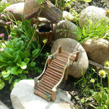 Fairy Garden Bridge,fairy bridge, fairy furniture,fairy accessories,fairy garden supply, twig bridge for your fairy garden or terrarium