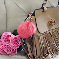 Pom Pom Purse Poof in Pink
