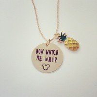 Now Watch Me Whip Dole Whip Disney Parks Inspired Necklace from SHOW PONY