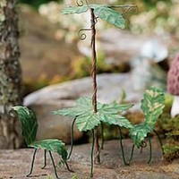 Tiny Leaf Umbrella - Green - My Fairy Gardens