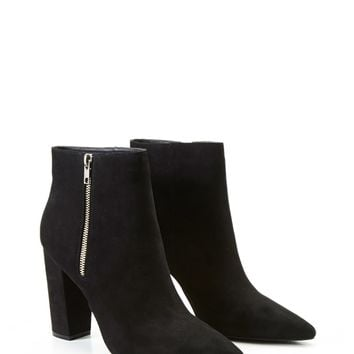 Pointed Faux Suede Booties