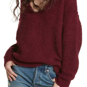Free People Lofty V-Neck Sweater | Nordstrom