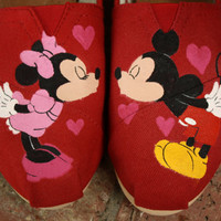 Mickey and Minnie Mouse Kiss Original by SomethingFromTheSun
