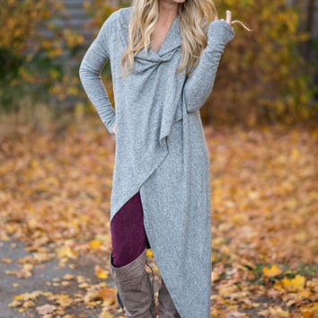 Pure Grey Casual Coats