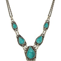 Natalie B Jewelry All Choked Up Necklace in Metallic Bronze