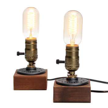 New Arrival High Quality Loft Vintage E27 Bulb Table Lamp Dimmable Water Pipe Light Home Bar Decor