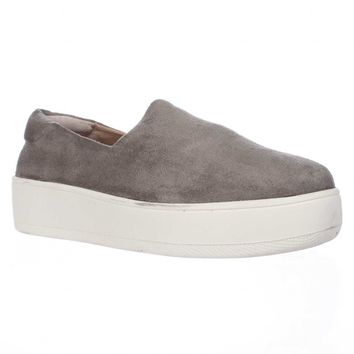 STEVEN by Steve Madden Hilda Slip On Fashion Sneakers, Grey, 6.5 US