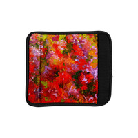 """Jeff Ferst """"Summer Garden"""" Floral Painting Luggage Handle Wrap"""