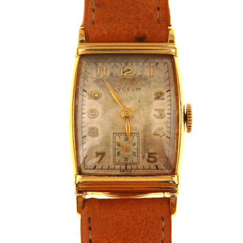 Vintage Lyceum Art Deco Watch Yellow Gold Fill