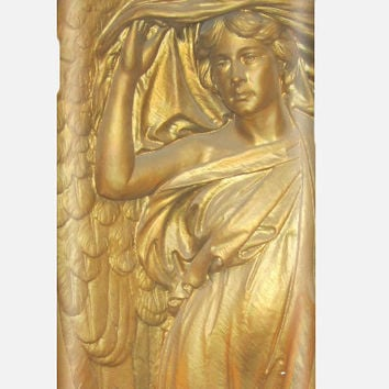 Golden Angel iPhone 6 Case | Antique Gold Case Samsung Galaxy | Monogram Name Personalization Available
