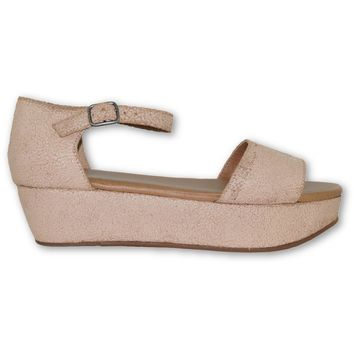 Daisy Platform Sandals - Blush