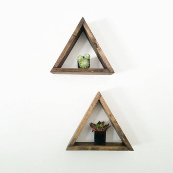 Triangle Floating Shelf - Plant holder - Geometric shelves - Gift for Her