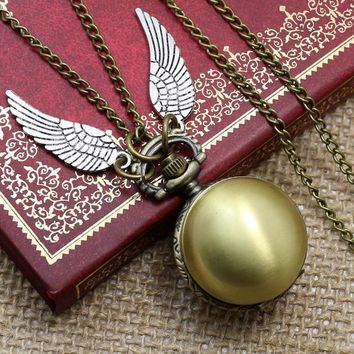 Harry Potter Snitch Pocket Watch Necklace