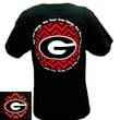 New Georgia Bulldogs Chevron How Bout Them Dogs Black Girlie Bright T Shirt