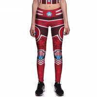 Captain America Red Leggings