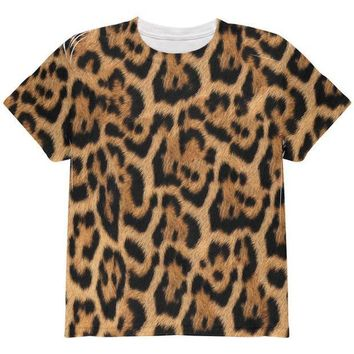 CREYCY8 Halloween Leopard Print Costume All Over Youth T Shirt