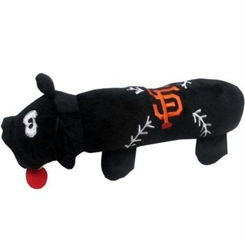 LMFON San Francisco Giants Plush Tube Pet Toy