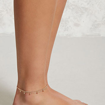 Ball Charm Layered Anklet