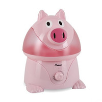 Crane Adorable Ultrasonic Cool Mist Humidifier with 2.1 Gallon Output per Day - Pig